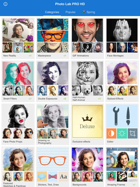 Photo Lab PRO HD: frames for pictures, face sketch Screenshots