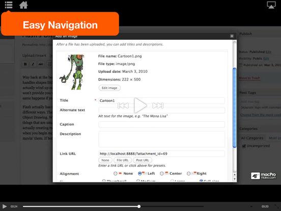 WordPress 101 iPad Screenshot 4