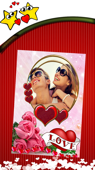 Valentine's Day Photo Frames Fun - Heart & Love FX Apps free for iPhone/iPad screenshot