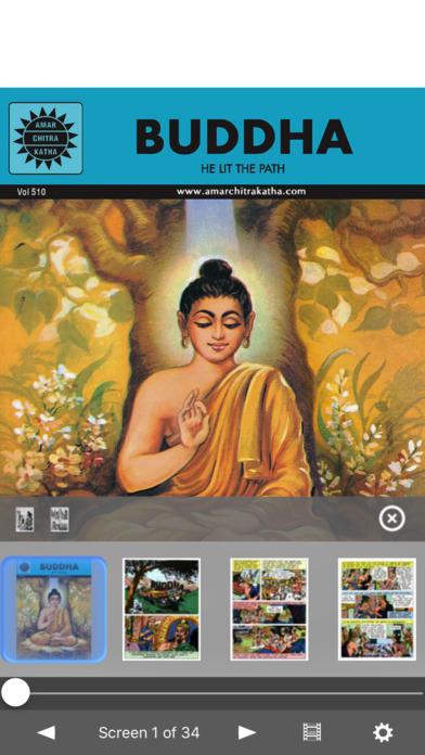 Buddha Triple Digest( Buddha, Fa-Hien, Hiuen Tsang ) - Amar Chitra Katha Comics iPhone Screenshot 2