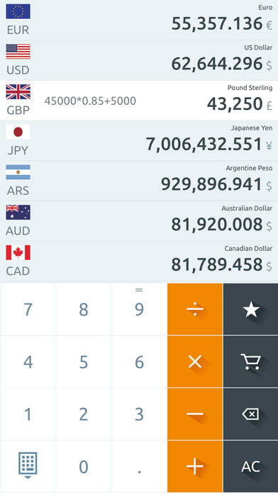 Currency Converter (Free) iPhone Screenshot 4