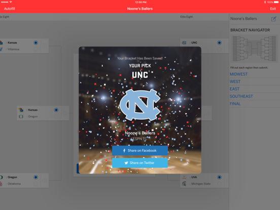 ESPN Bracket Bound 2011 iPad Screenshot 2