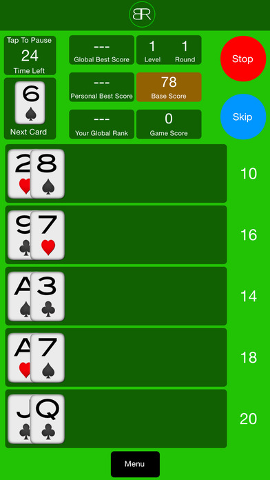 BlackJack Run Lite iPhone Screenshot 3