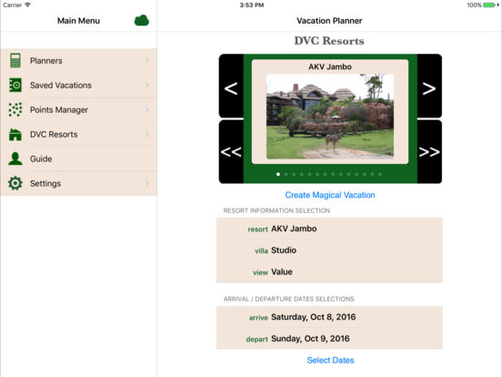 DVC Planner iPad Screenshot 1