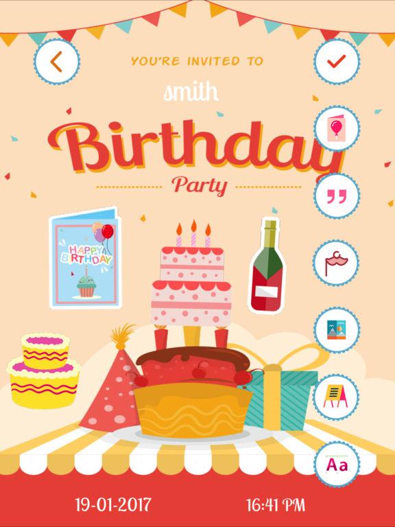 Birthday Invitation Card Maker HD on the App Store – Birthday Invitation Card Maker