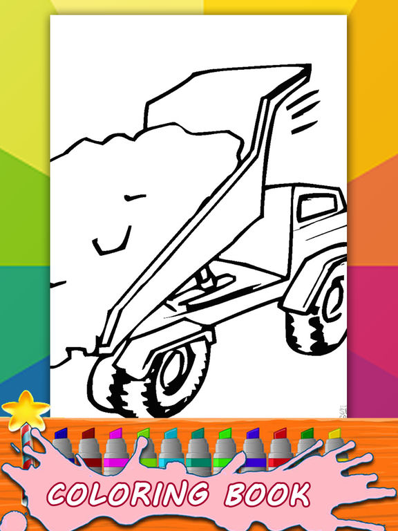 app shopper kids monster truck coloring page game