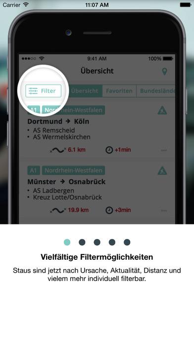 Stau Mobil iPhone Screenshot 1