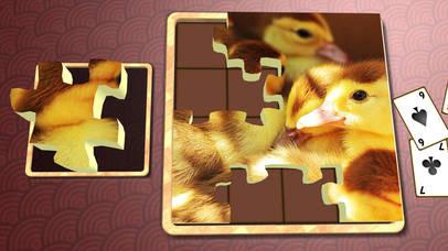 Jigsaw Solitaire Baby Animals screenshot 2