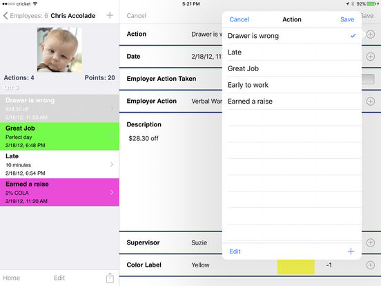 Employee Tracker Pro: Document and Report iPad Screenshot 2