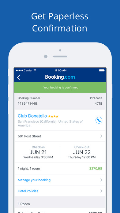 Booking.com - Hotel reservations for 105,000+ hotels iPhone Screenshot 2