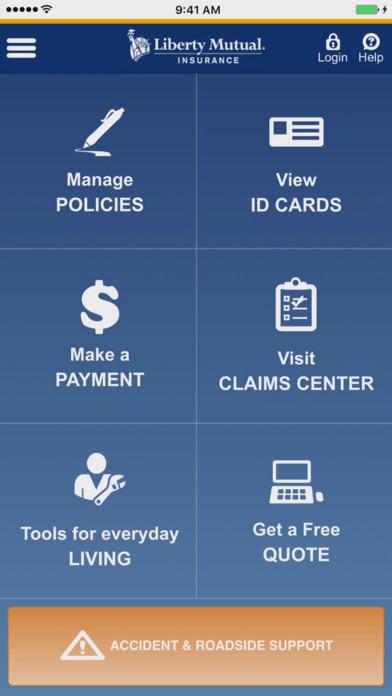 Liberty Mutual Mobile iPhone Screenshot 1