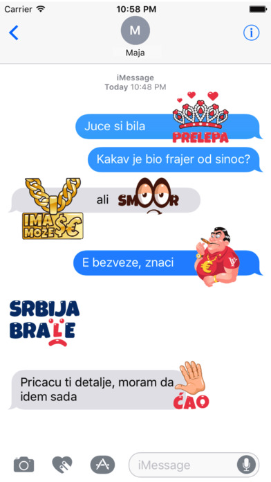 SerbMoji - Serbian Stickers screenshot