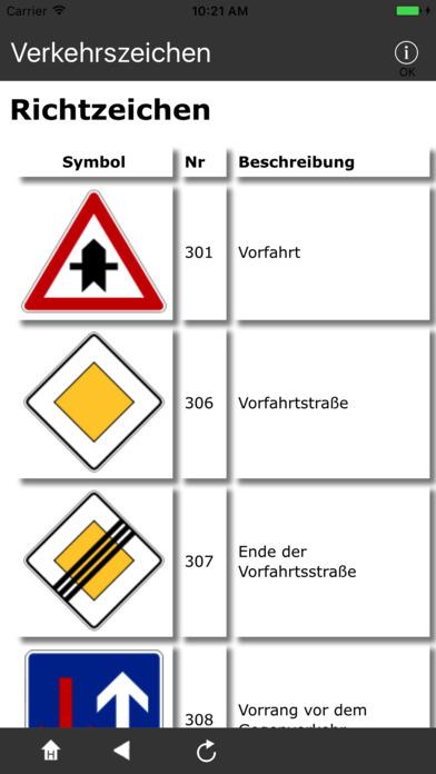 Verkehrszeichen DE iPhone Screenshot 2