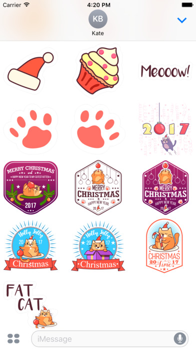 Fat Cat Christmas Stickers screenshot 4