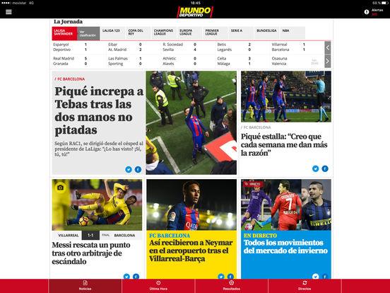 Mundo Deportivo iPad Screenshot 1