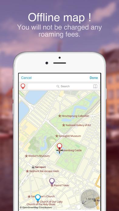 Copenhagen on foot : Offline Map Screenshots