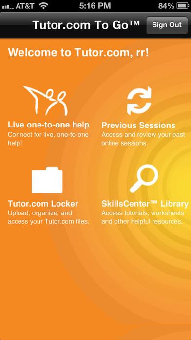 Tutor.com To Go iPhone Screenshot 3