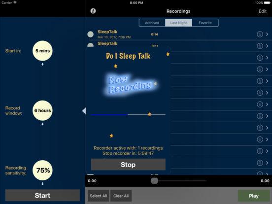 sleep talk app how to use
