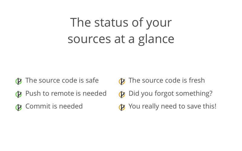 GitBar for Mac 1.2.2 激活版 - Git资源管理菜单栏工具