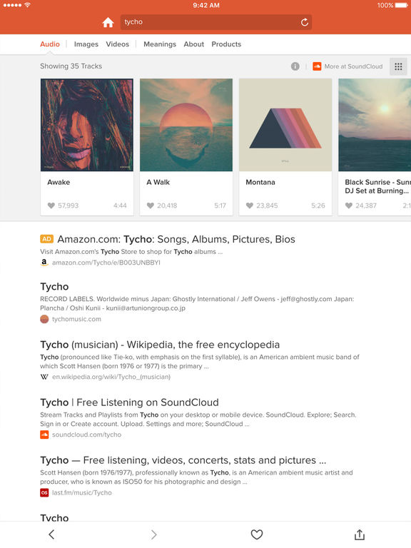 DuckDuckGo Search & Stories Screenshot