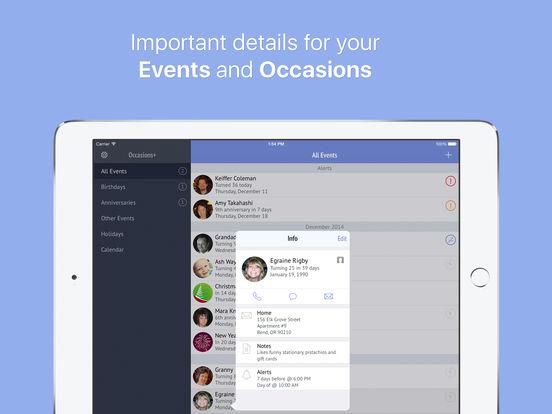 Occasions+ Screenshots