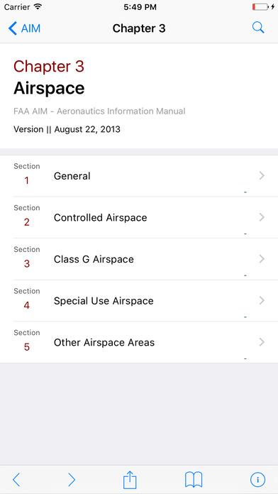 FAA AIM for Pilots - Aeronautical Information Manual iPhone Screenshot 2