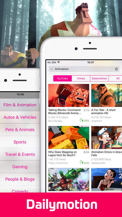 Screenshots of Video Tube Free - Stream and Play Videos for iPhone