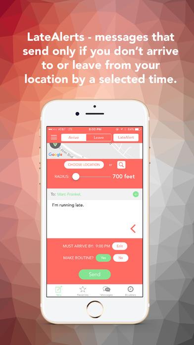 Vamonos! - Location Based Texting screenshot 2