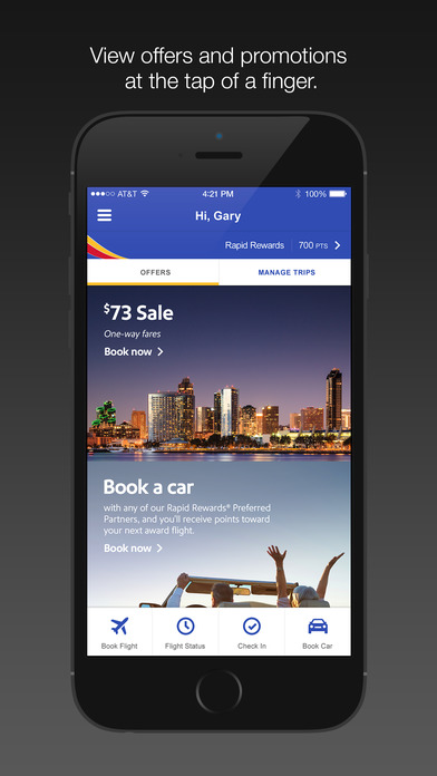 Southwest Airlines screenshot