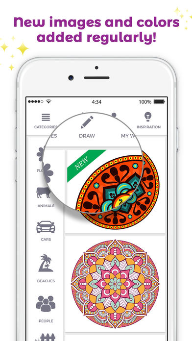 iColor Club: Coloring book and pages for Adults Apps free for iPhone/iPad screenshot