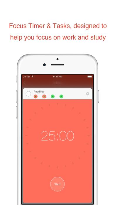 Tomatodo - To-Do List & Focus Timer Screenshots