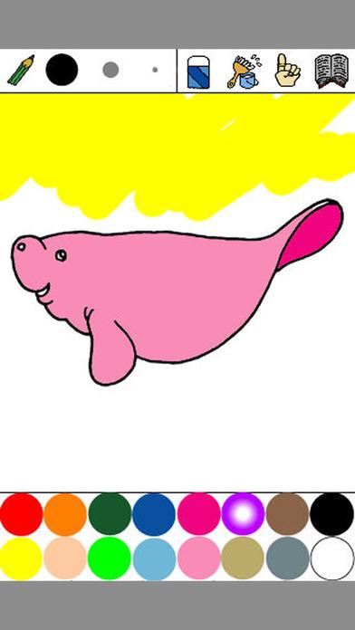 Aquarium Coloring for Kids ~Ocean life~ : iPhone edition iPhone Screenshot 2