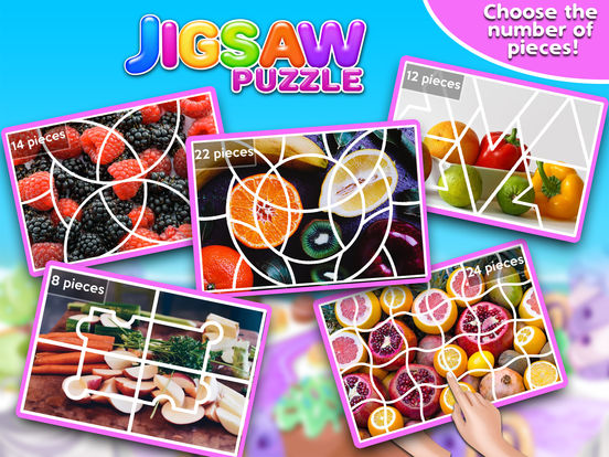Screenshot #3 for Fruits & Vegetables Jigsaw Puzzle - Fun With Foods