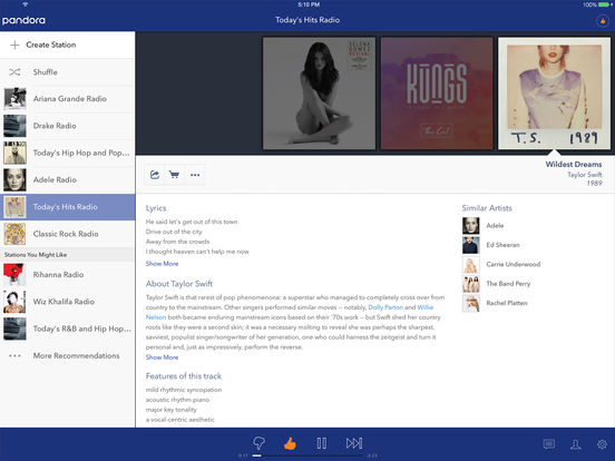 Screenshot #2 for Pandora - Music & Radio