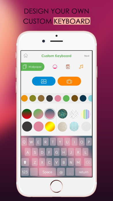how to change keyboard background on iphone