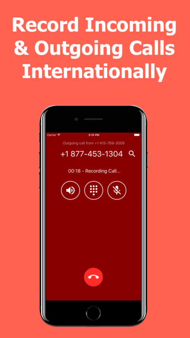 Call Recorder International - Record Phone Calls Apps free for iPhone/iPad screenshot