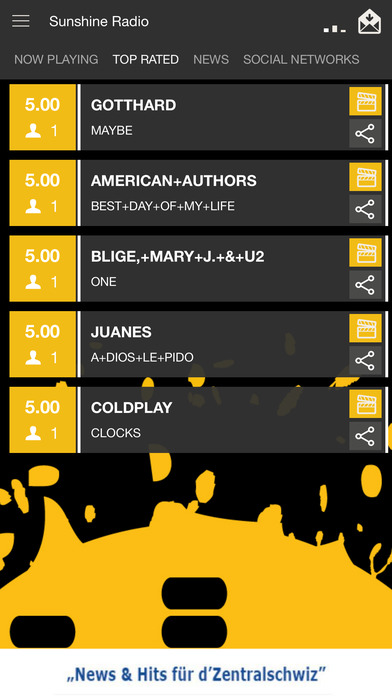 Radio Sunshine Mobile iPhone Screenshot 2