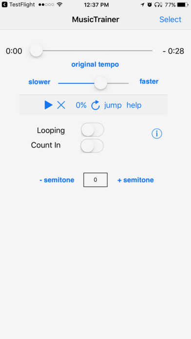 Slow Down Music Trainer iPhone Screenshot 1
