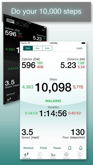 Footsteps - Pedometer iPhone Screenshot 1