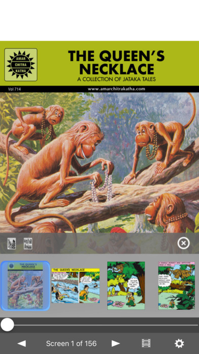 Jataka Tales - Queen's Necklace - Amar Chitra Katha Comics iPhone Screenshot 1