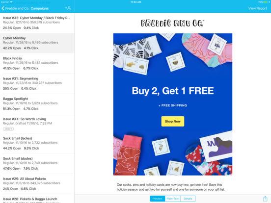 MailChimp - Email Marketing Screenshot