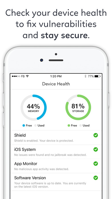 Protection for iPhone - Mobile Security Anti Track app image