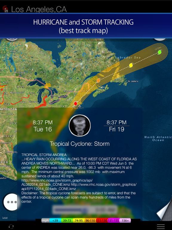 Radar HD - Future NOAA Doppler Weather Radar Screenshots