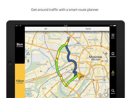 Yandex.Navigator iPad Screenshot 1