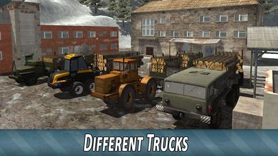 Winter Timber Truck Simulator Full screenshot 4
