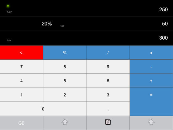 VAT CALC 2011 iPad Screenshot 1