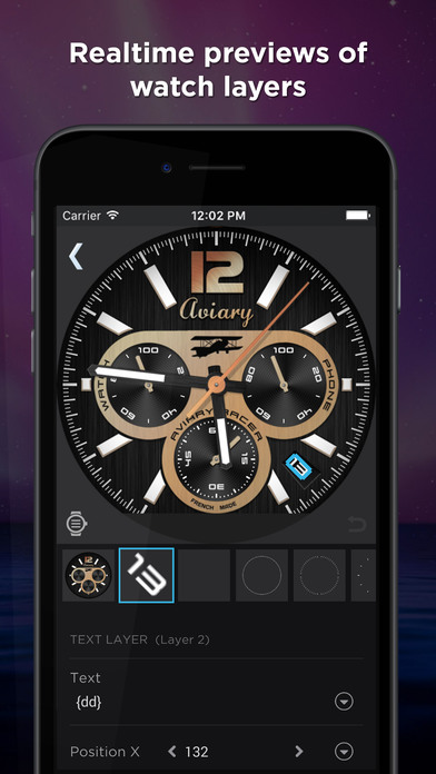 WatchMaker - Watch Faces Designer Apps free for iPhone/iPad screenshot