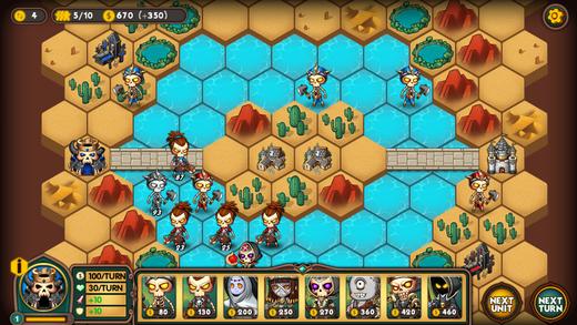 Легион войны - Пошаговая стратегия тактика Screenshot