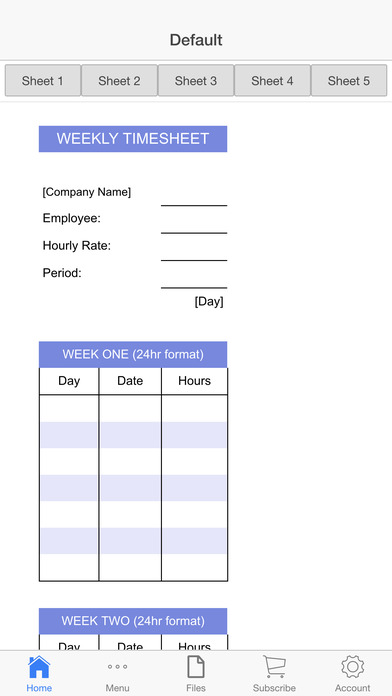 Business Timesheet Screenshots