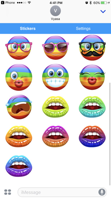 Rainbow Emoji - Cool Emoticon Sticker Icons iPhone Screenshot 3